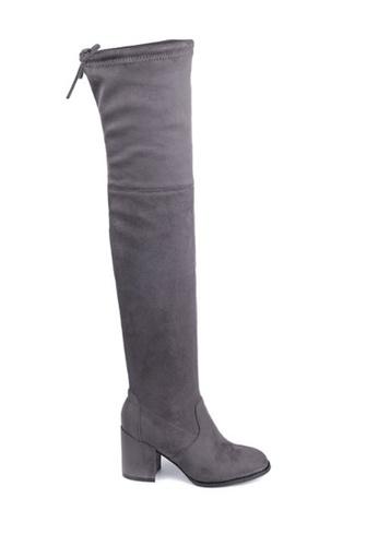 Twenty Eight Shoes grey Skinny Over Knee Heel Long Boots 661-2 02B36SHC86E765GS_1