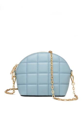 Twenty Eight Shoes blue VANSA Fashion Lingge Chain Crossbody Bag VBW-Cb4028 185FBAC4124534GS_1