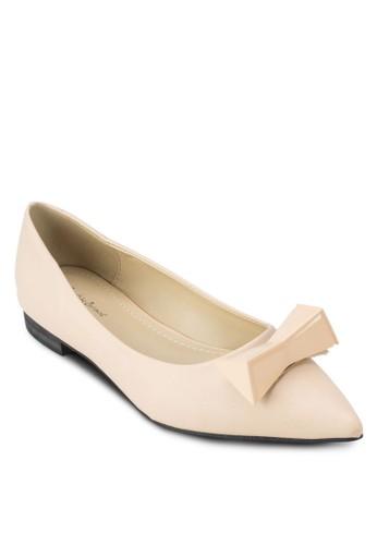 金屬蝴蝶zalora 男鞋 評價結尖頭平底鞋, 女鞋, 芭蕾平底鞋