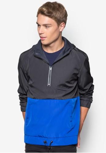 撞色條紋厚夾克、 服飾、 外套24:01撞色條紋厚夾克最新折價