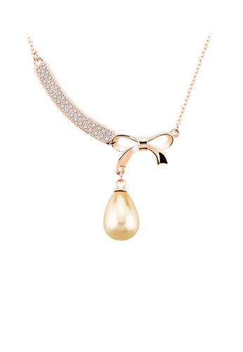 OUXI gold OUXI Pearl Necklace 11351 OU821AC23TXOMY_1