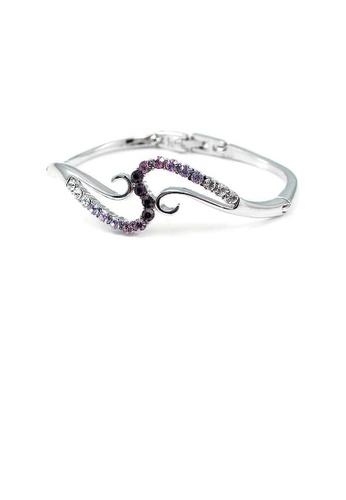 Glamorousky purple Elegant Bangle with Purple Austrian Element Crystal F8CD2AC171C5DBGS_1