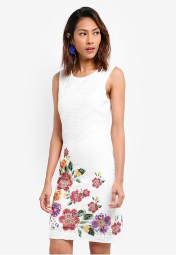 Desigual white Karlin Dress 6E65EAA8DED596GS_1