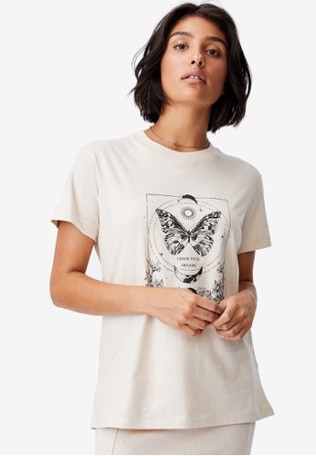 Cotton On beige Classic Arts T-Shirt 6975AAA143BDC7GS_1