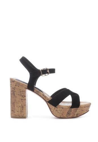 London Rag 黑色 人造麂皮系带鞋跟 7B214SH70711C1GS_1