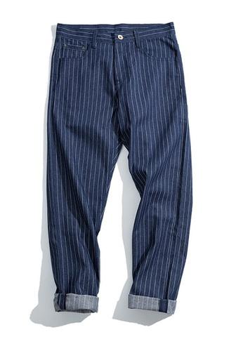 Twenty Eight Shoes navy VANSA  Vintage Striped Straight Leg Jeans  VCM-P2007034 8C2AFAA70E75B8GS_1