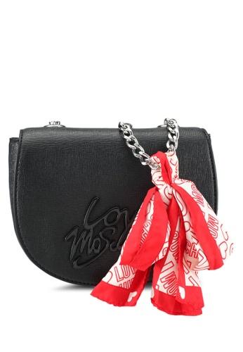 Love Moschino black Borsa Saffiano Shoulder Bag LO478AC0SEIPMY_1
