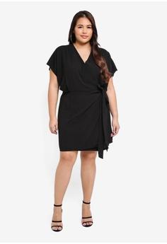 5bf3f6b13ad6 40% OFF MISSGUIDED Plus Size Kimono Sleeve Wrap Dress S  56.90 NOW S  33.90  Sizes 16