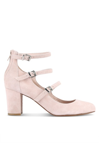 House of Avenues pink Strappy Heeled Pumps HO685SH0RRBAMY_1