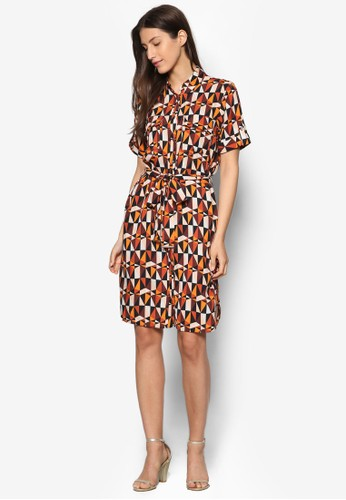 幾esprit 價位何印花襯衫連身裙, 服飾, 洋裝