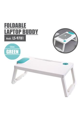 HOUZE green HOUZE - Foldable Laptop Buddy (Green) C8731HLD07D7F7GS_1