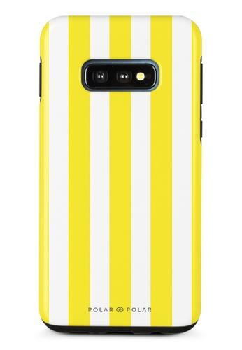 Polar Polar yellow Yellow Stripe Samsung Galaxy S10E Dual-Layer Protective Phone Case (Glossy) 6FF8DAC2F79454GS_1