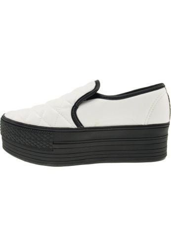 Maxstar 白色 新款韩国鞋C50-Stitch-TC時尚皮革布混合女白色 US Women Size MA345SH93GXITW_1