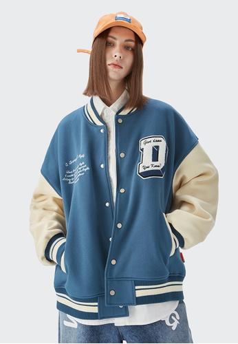 Twenty Eight Shoes Loose-Fitting Embroidered Baseball Uniform 5028W21 F68C5AA02FFAC5GS_1