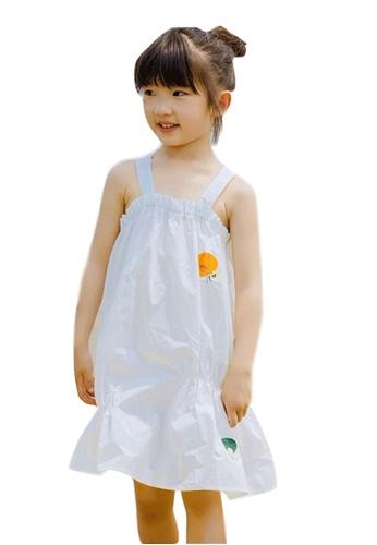 M.Latin white Suspender Midi Dress with Printed Design 6E373KA37F21CFGS_1