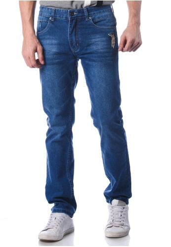 POLO HAUS blue Polo Haus - Slim Fit Jeans (Blue) PO783AA81JNYMY_1