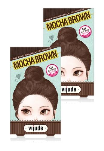 Mediheal brown Mediheal Vijude Hair Color Cream x2 Boxes (Shade: 5n Mocha Brown) 4B6E3BEC34C87AGS_1