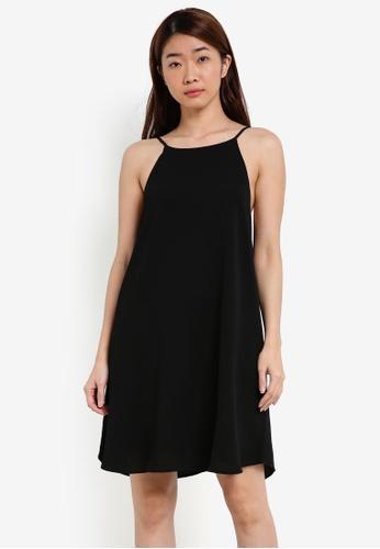 Cotton On black Woven Sophie High Neck Slip Dress CO372AA0S4YWMY_1