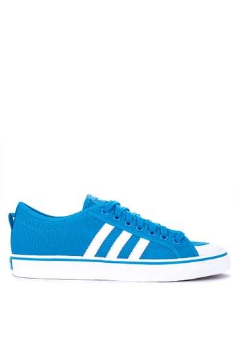 adidas white and blue adidas originals nizza AD678SH0KSWNPH_1