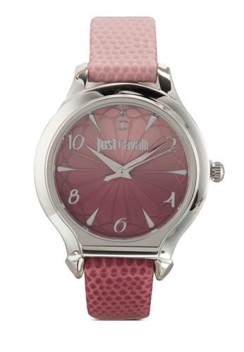 R7251533502 Just尖沙咀 esprit Fusion 雕刻暗紋皮革手錶, 錶類, 飾品配件