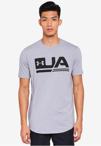 Under Armour grey UA Sportstyle Short Sleeve Tee 376FBAAA009985GS_1