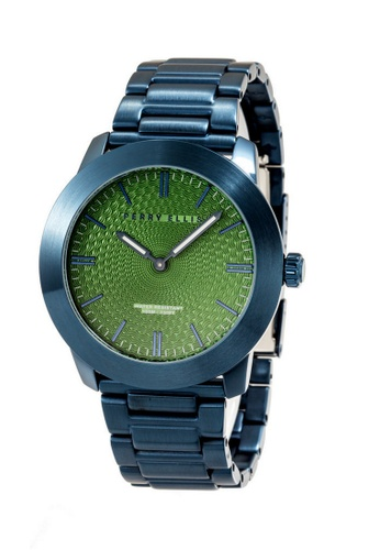 PERRY ELLIS blue Perry Ellis Slim Line Unisex 42mm Quartz Stainless Steel Watch 07012-02 4932CAC60CAB77GS_1