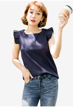 3278303da58 Tokichoi navy Pleated Detail Sleeveless Blouse EA50CAA9C901C0GS 1 60% OFF  Tokichoi Pleated Detail Sleeveless Blouse RM 109.00 NOW RM 43.90 Sizes ...