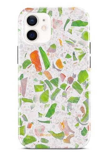 Polar Polar 綠色 綠色水磨石雙層光面手機殼 iPhone 12 mini 0D117AC2DD6B97GS_1