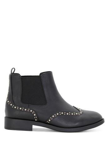 London Rag 黑色 钉钉装饰踝靴 SH1699 EF580SHEB9C13BGS_1