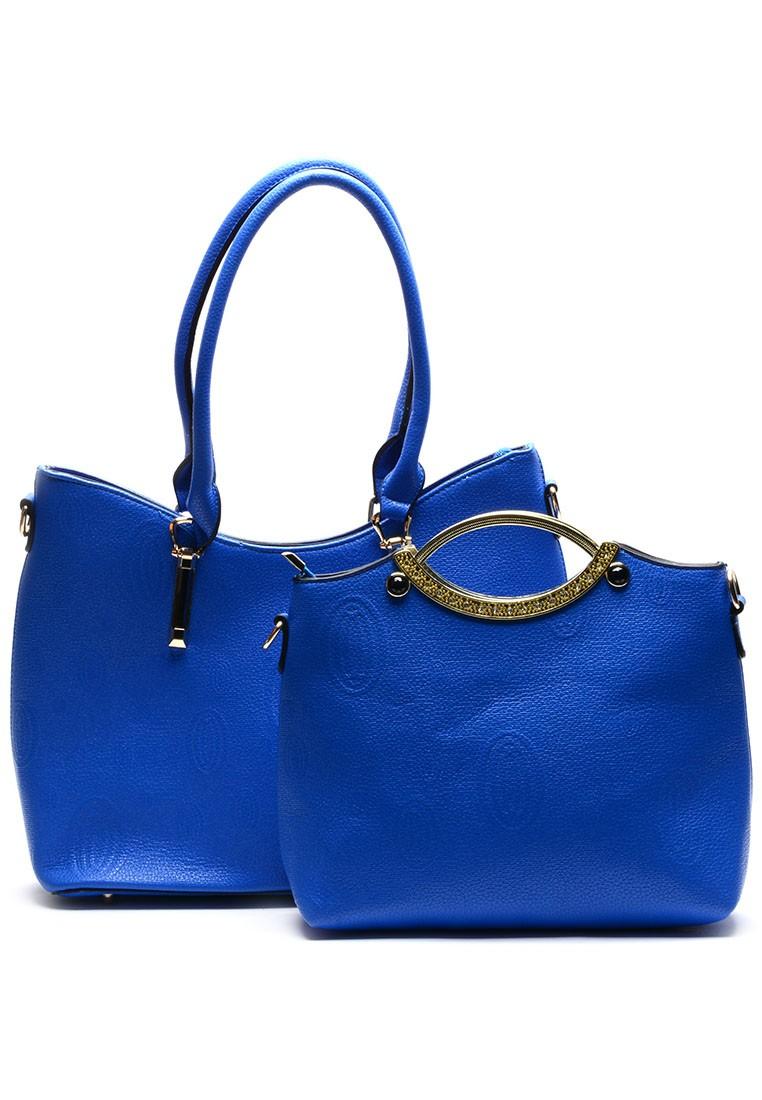European Design 2 piece Leather Handbag