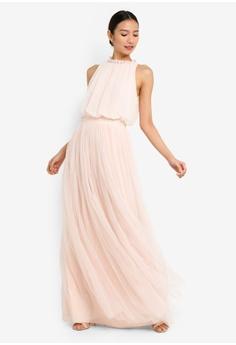 bc02a6f260d 13% OFF Little Mistress Nude Maxi Dress HK  849.00 NOW HK  739.90 Sizes 8  12 14