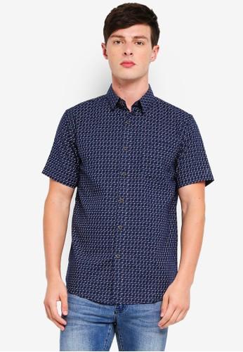 Fidelio navy Signature Short Sleeves Shirt 60D37AAD3FEDA7GS_1