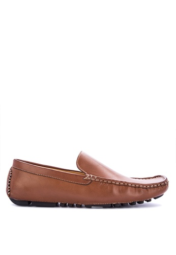 Mendrez brown Jacey Loafers & Moccasins BD69BSH57EF39CGS_1