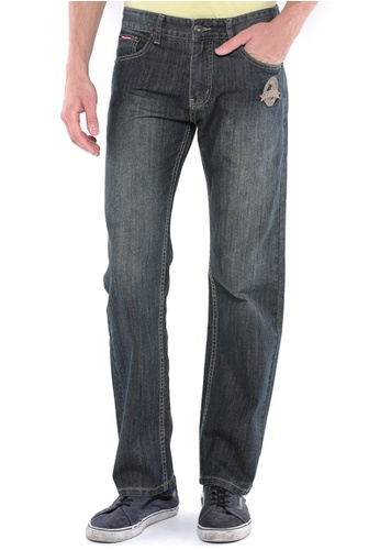 POLO HAUS blue Polo Haus - Straight Cut Long Jeans (Dark Blue) PO783AA97FRQMY_1