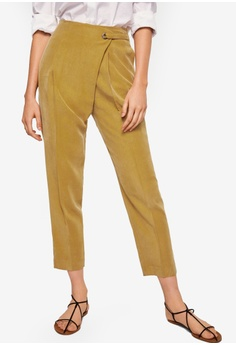 Mango yellow Wrapped Baggy Trousers B26D5AA74C4C60GS_1