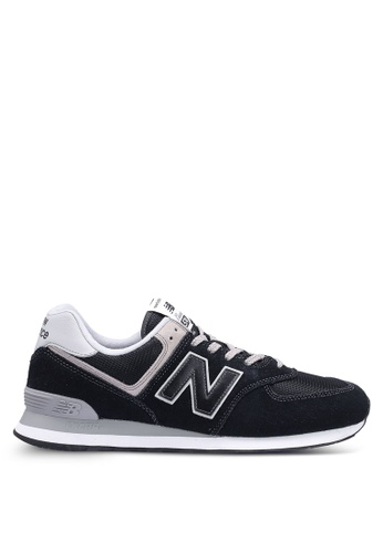 New Balance black 574 Lifestyle Core Sneakers F07F8SHCA9DE1FGS_1