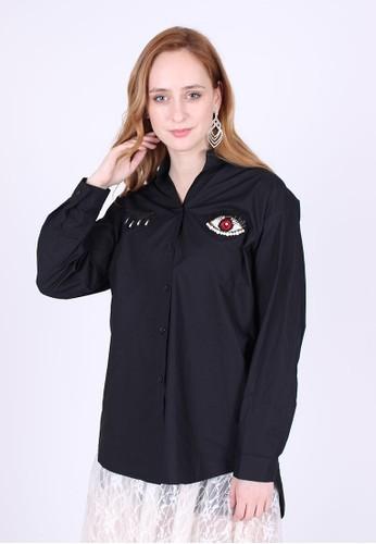 MAGNOLIA black Shirt With Stripe Detail FE412AAE2BD867GS_1