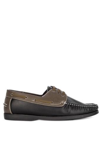 Italianos black and multi Rowan Boat Shoes BB25CSH51463CEGS_1