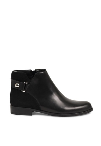 Andre black ADBOOGIE Leather Panelled Suede Ankle Boots AN324SH0GGXLSG_1