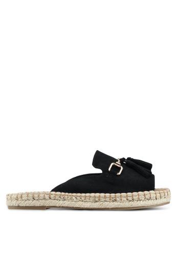 River Island black Espadrille Sandals 1EEF7SH8148F88GS_1