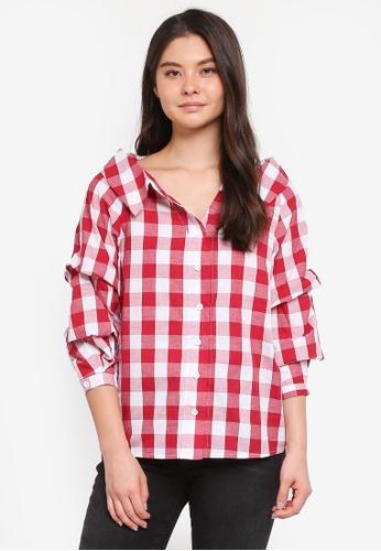 Haute Kelly red Sun-Hee Checkered Shirt 6820FAA7A87608GS_1