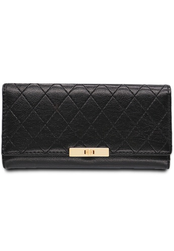 Polo Hill black Polo Hill Ladies Tri-Fold Wallet AD47AAC8C4CE96GS_1