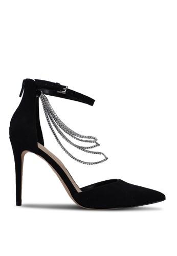 ALDO 黑色 Ravenbourne Pointed Toe Ankle Strap Heels F1085SHD617E76GS_1