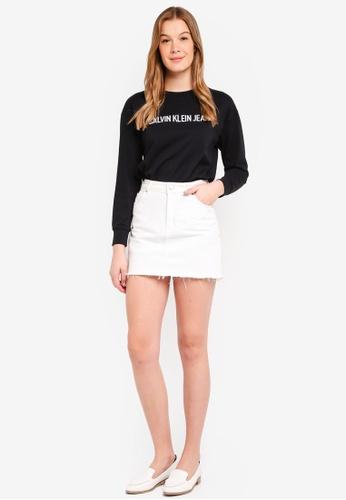 Calvin Klein black Fashion Logo Sweater - Calvin Klein Jeans 3509DAA273E649GS_1