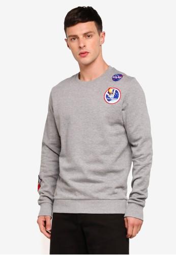 Jack & Jones grey Jornasa Sweatshirt 92DA6AA944C322GS_1