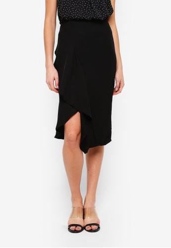 FORCAST black Malia Asymmetric Skirt B9290AA3FB1FCFGS_1