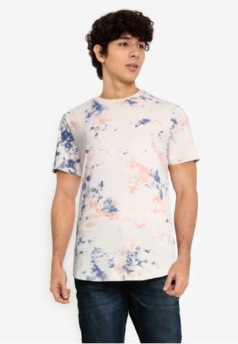 Abercrombie & Fitch multi Curved Hem Pattern T-Shirt 1A4E7AA60680AFGS_1