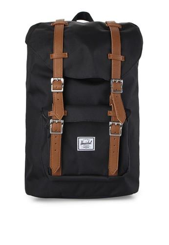 Herschel black Little America Mid-Volume Backpack HE449AC0UDP3ID_1