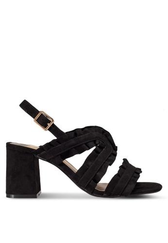 Dorothy Perkins black Black 'Serenity' Ruffle Sandals DO816SH18UIJMY_1
