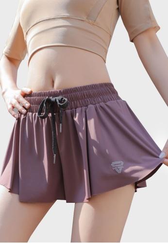 Twenty Eight Shoes purple VANSA  Anti-glare Sports Shorts VPW-St18238 B90F0AAA566689GS_1